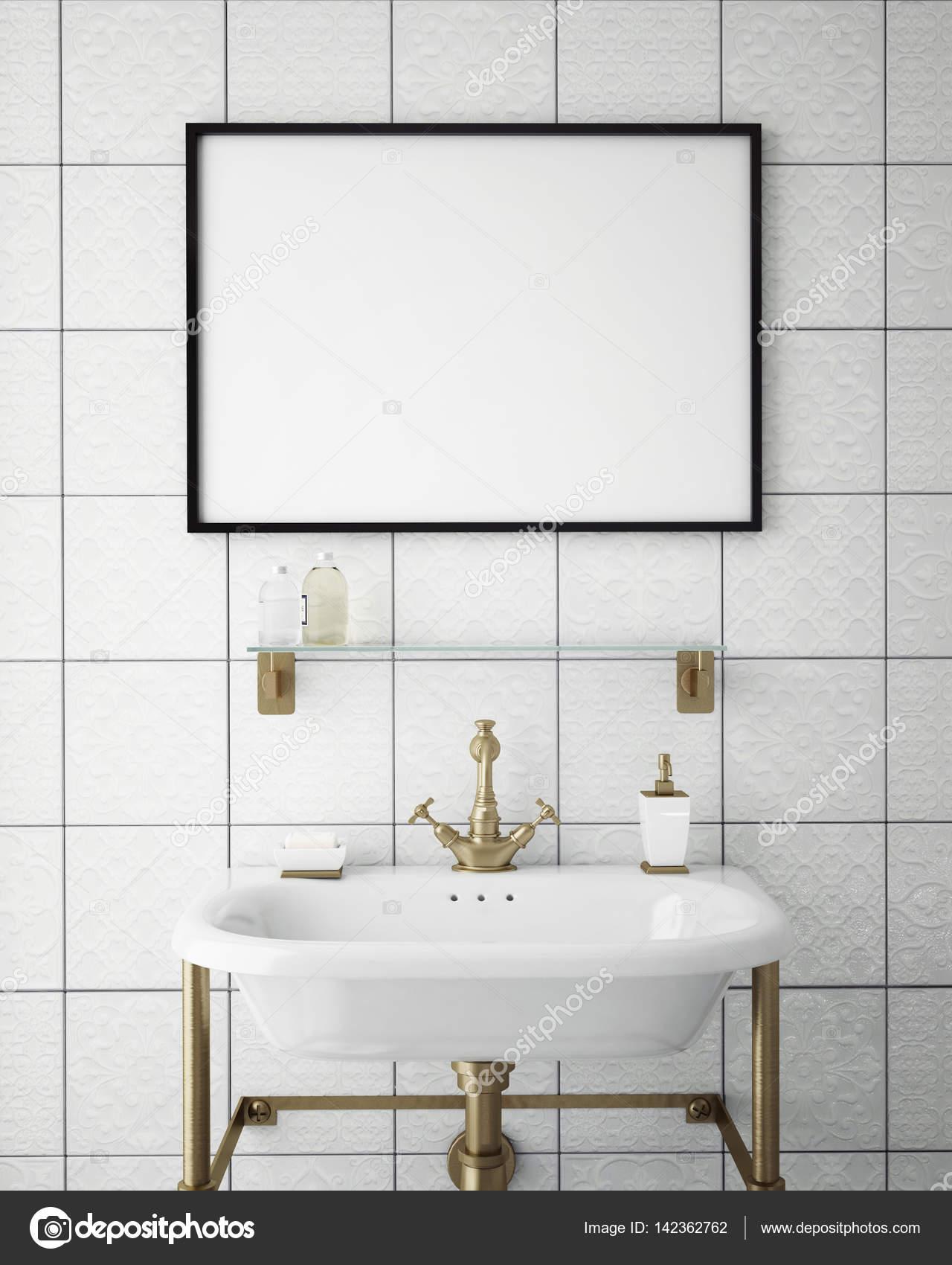 Salle De Bain Hipster ~ maquette image post ris e dans salle de bain vintage hipster fond