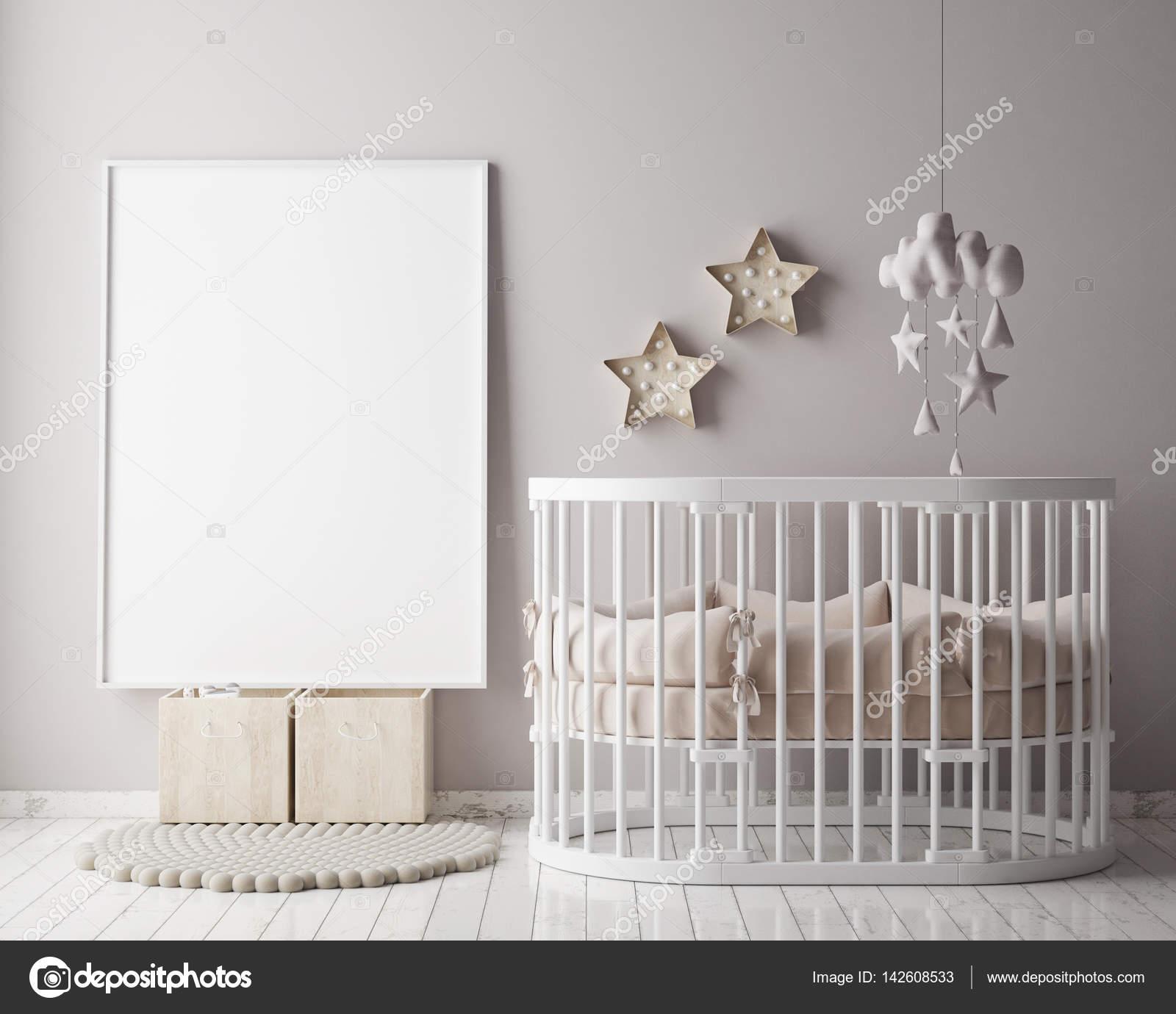 Mock Up Posterrahmen Im Kinderzimmer Skandinavischen Stil Innen
