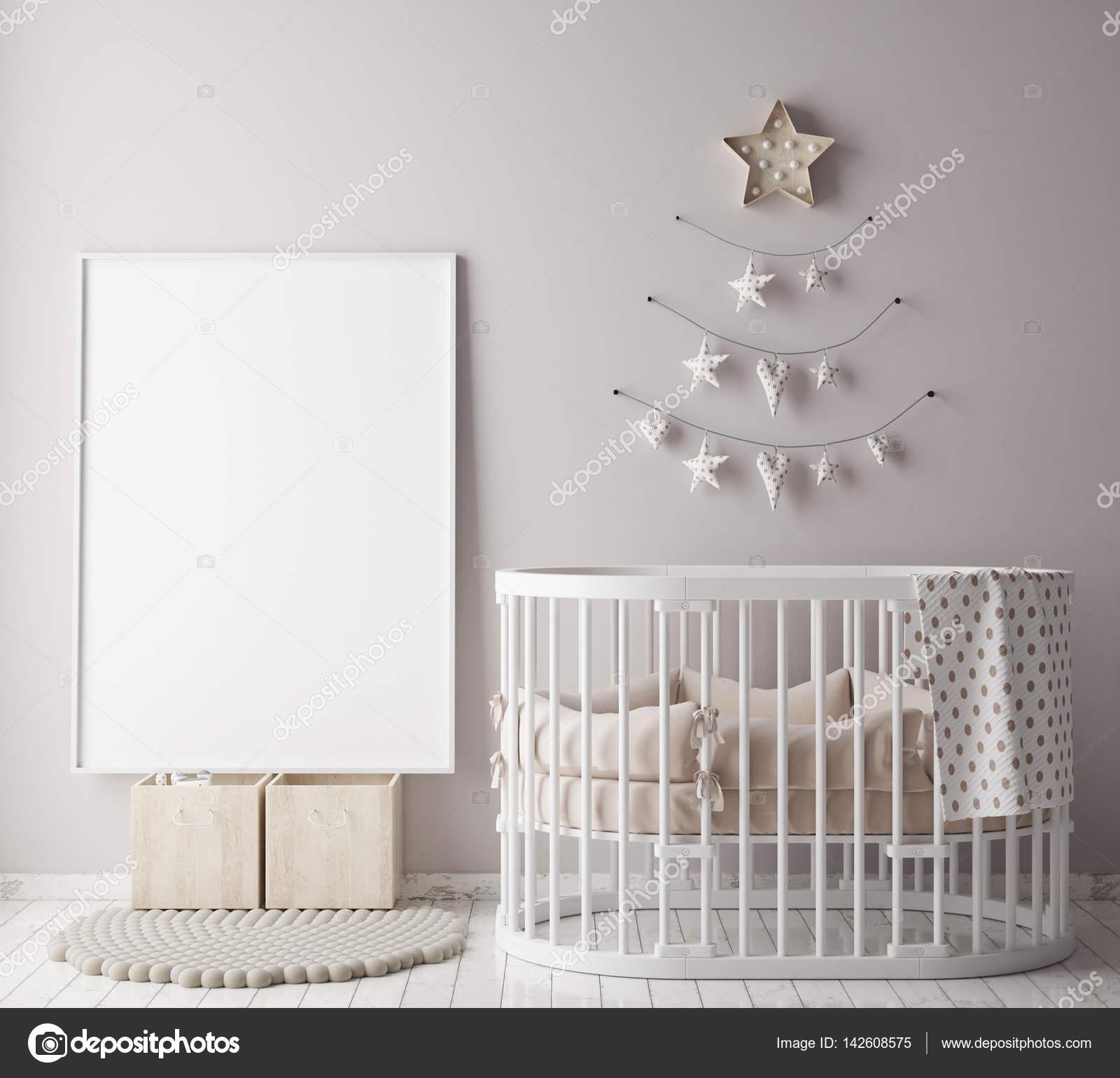 simulacros de fotograma de póster en la habitación de los niños con ...