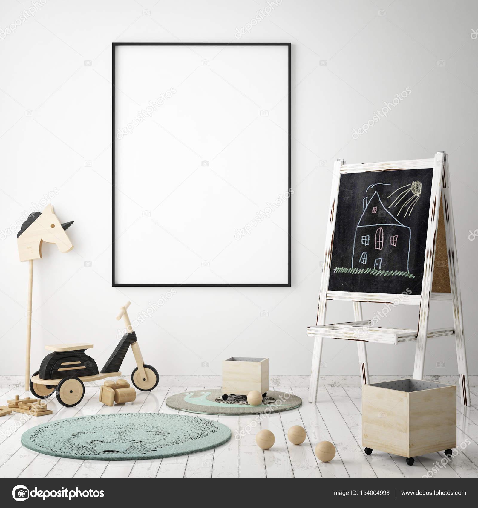 simulacros de fotograma de póster en el dormitorio de los niños ...