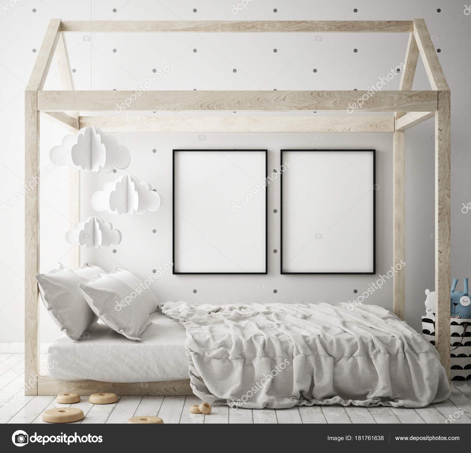 Makiety Ramki Plakat Sypialni Dzieci Skandynawski Styl Tło