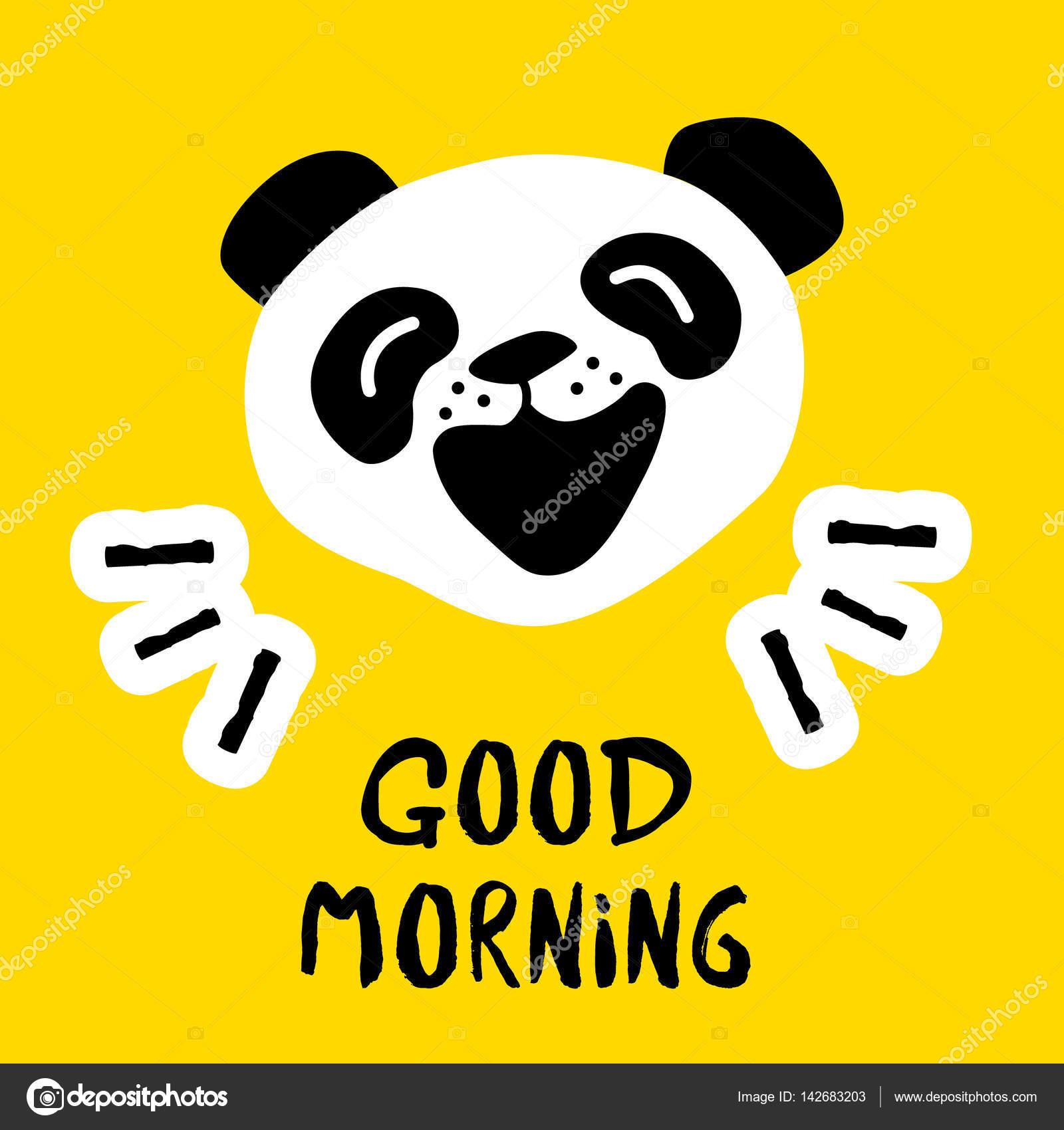 Vektor Hintergrund Mit Cartoon Bären Guten Morgen Karte