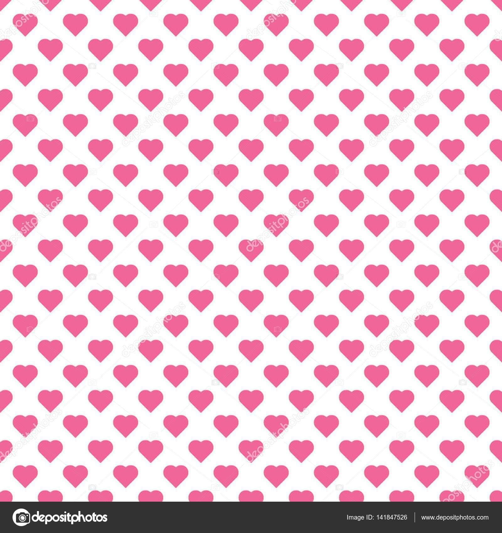patrn hermoso vector transparente con muchos smbolos de pequeos corazones rosas sobre fondo blanco archivo