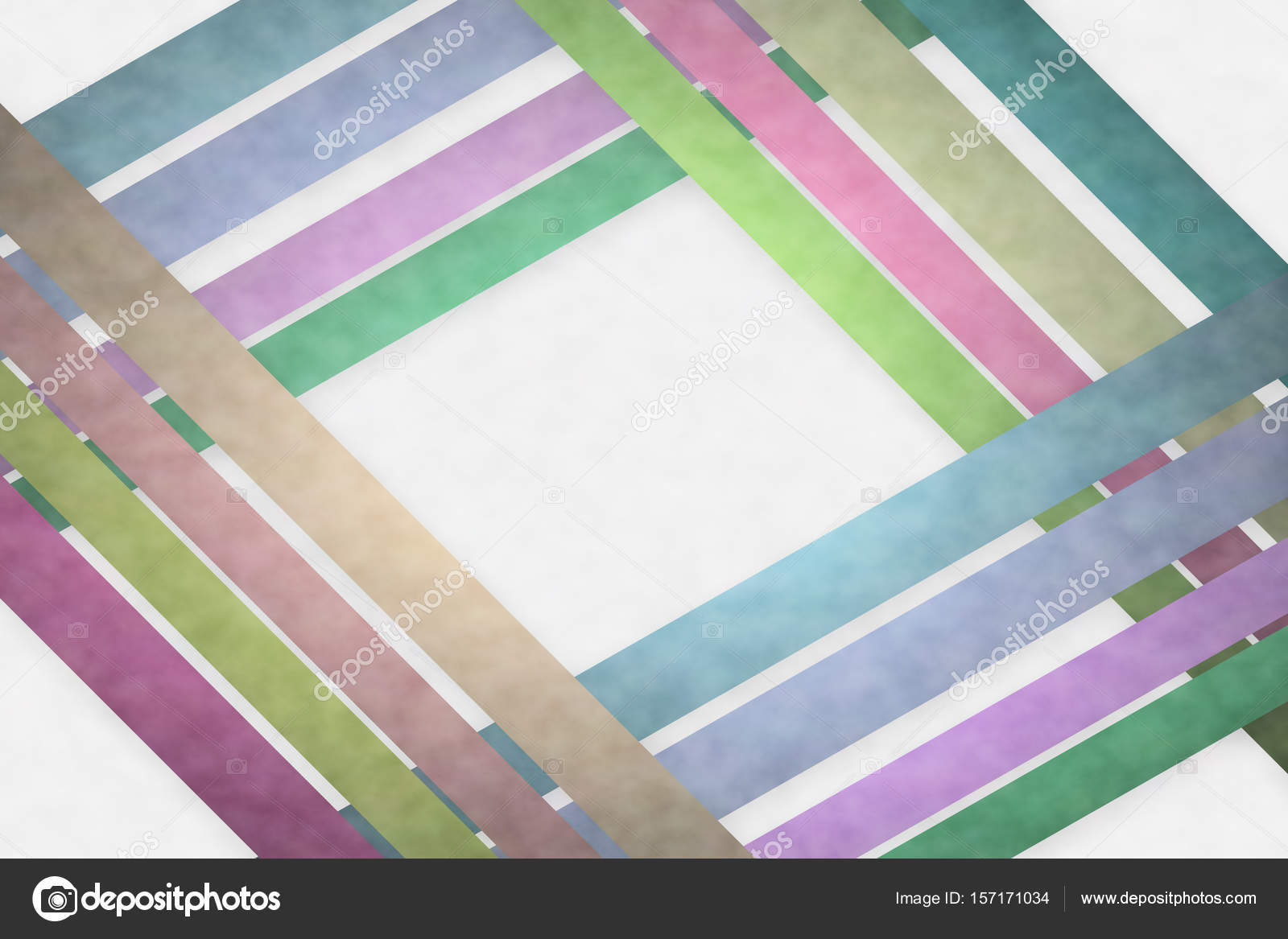 fashion color strips background on white cloud pattern stock photo