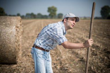 Farmer suffering from backache