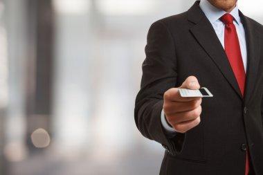 Businessman using his credit card
