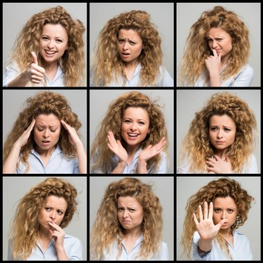 woman's facial expressions