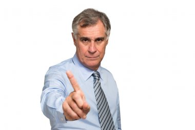 Businessman showing no sign