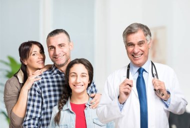 doctor and an happy family