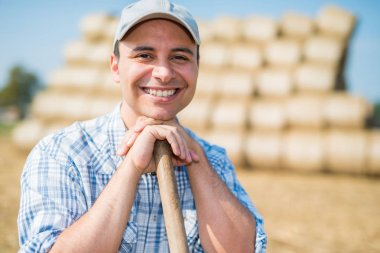 Smiling farmer portrait