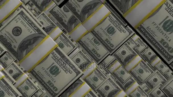 100 dolar hromádky balíčky. Bohatství a peníze