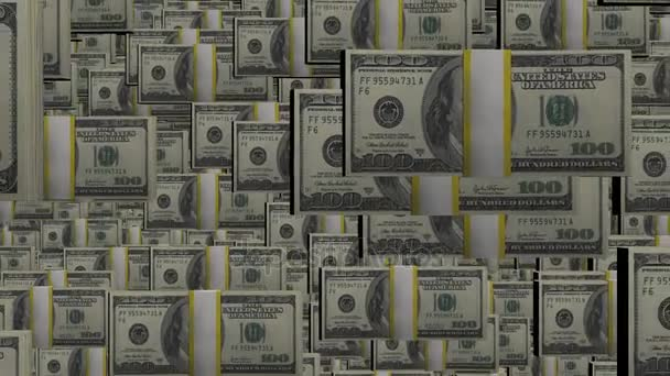 100 dollar bundles stacks . Wealth and money