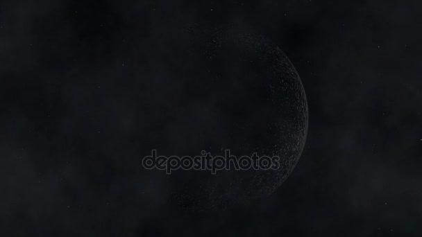 Měsíc nad hvězdné pole