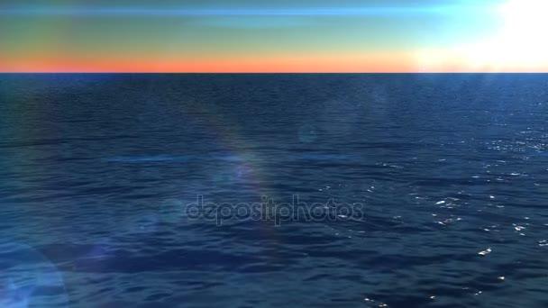 Hladina oceánu. Klidný oceán vlny