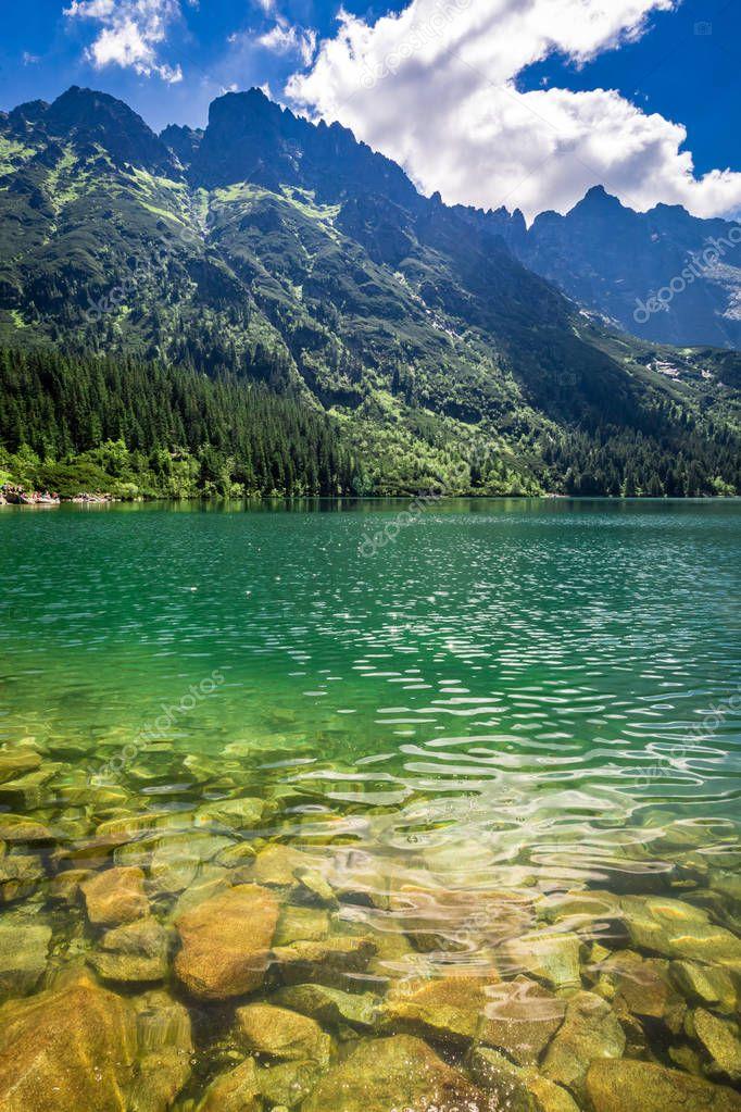 Фотообои Stunning lake in the mountains, Poland, Europe