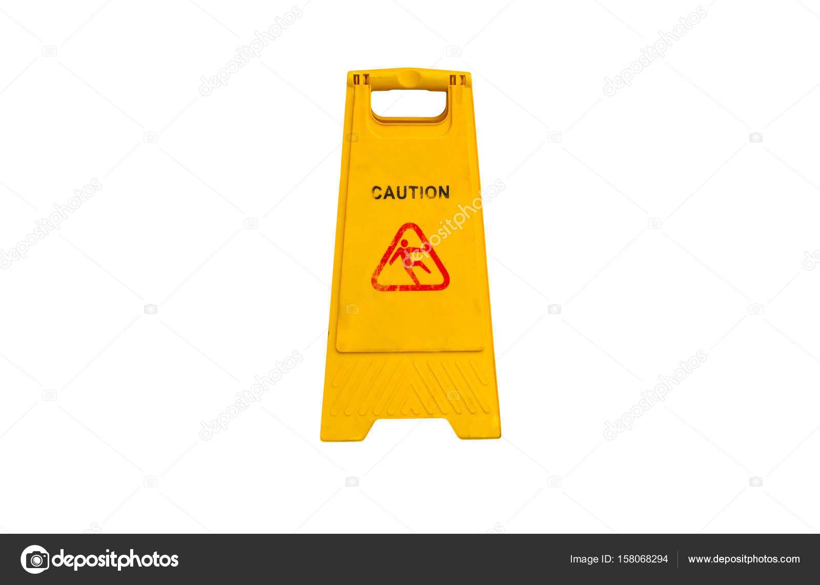 Segno che mostra avvertimento del pavimento bagnato di avvertenza