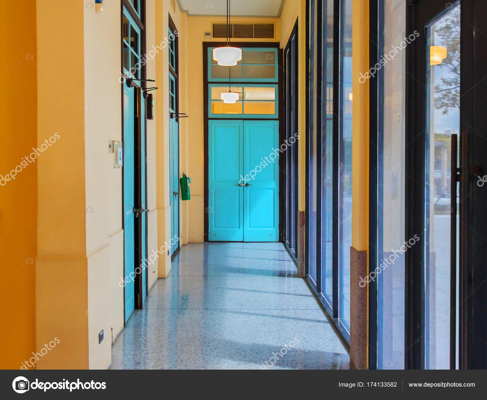 Innenarchitektur Leeren Gehwege Vintage Bunten Gebäude Museum ...