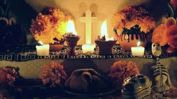 Tag des Opferaltars mit Brot pan de muerto