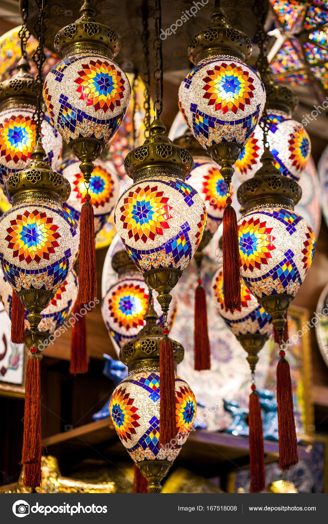 Lanterne Lampade Orientali Foto Stock C A Ostankova 167518008