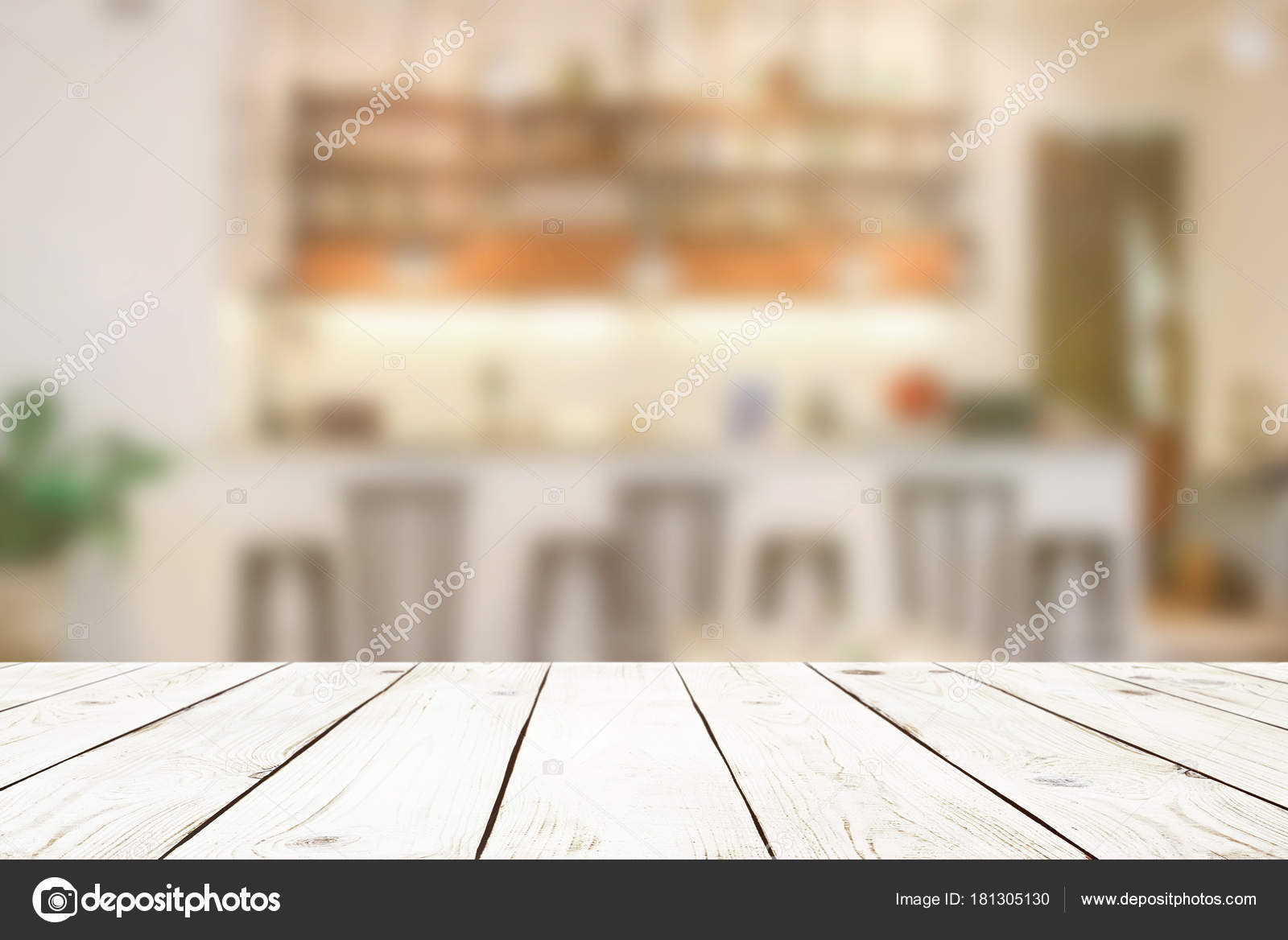 Incredible Empty Wood Table Top Blur Abstract Cafe Bar Background Home Interior And Landscaping Pimpapssignezvosmurscom
