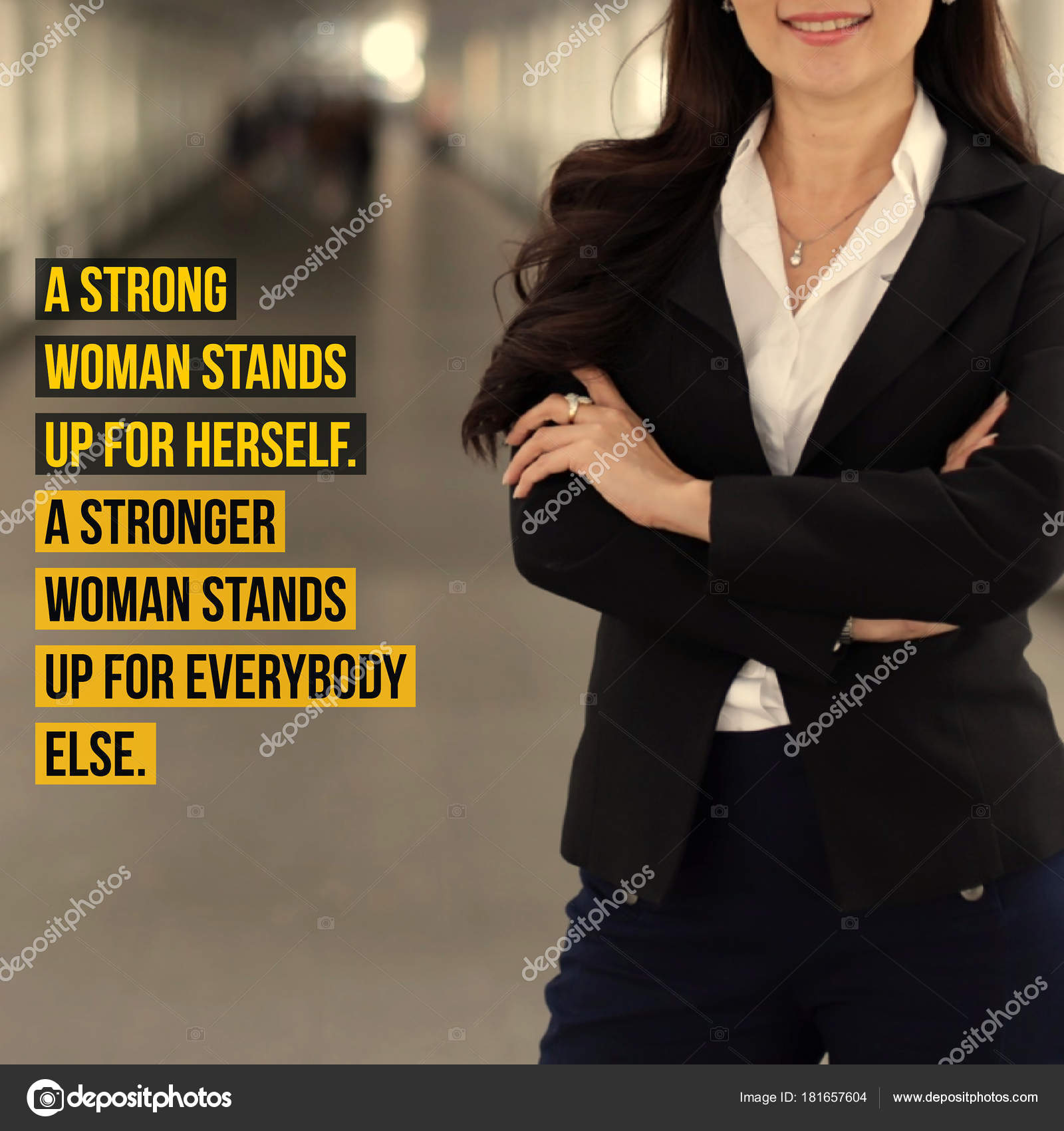 Inspirational Motivation Quote Women Power Leadership Word