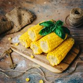 Delicious golden Grilled  Corns