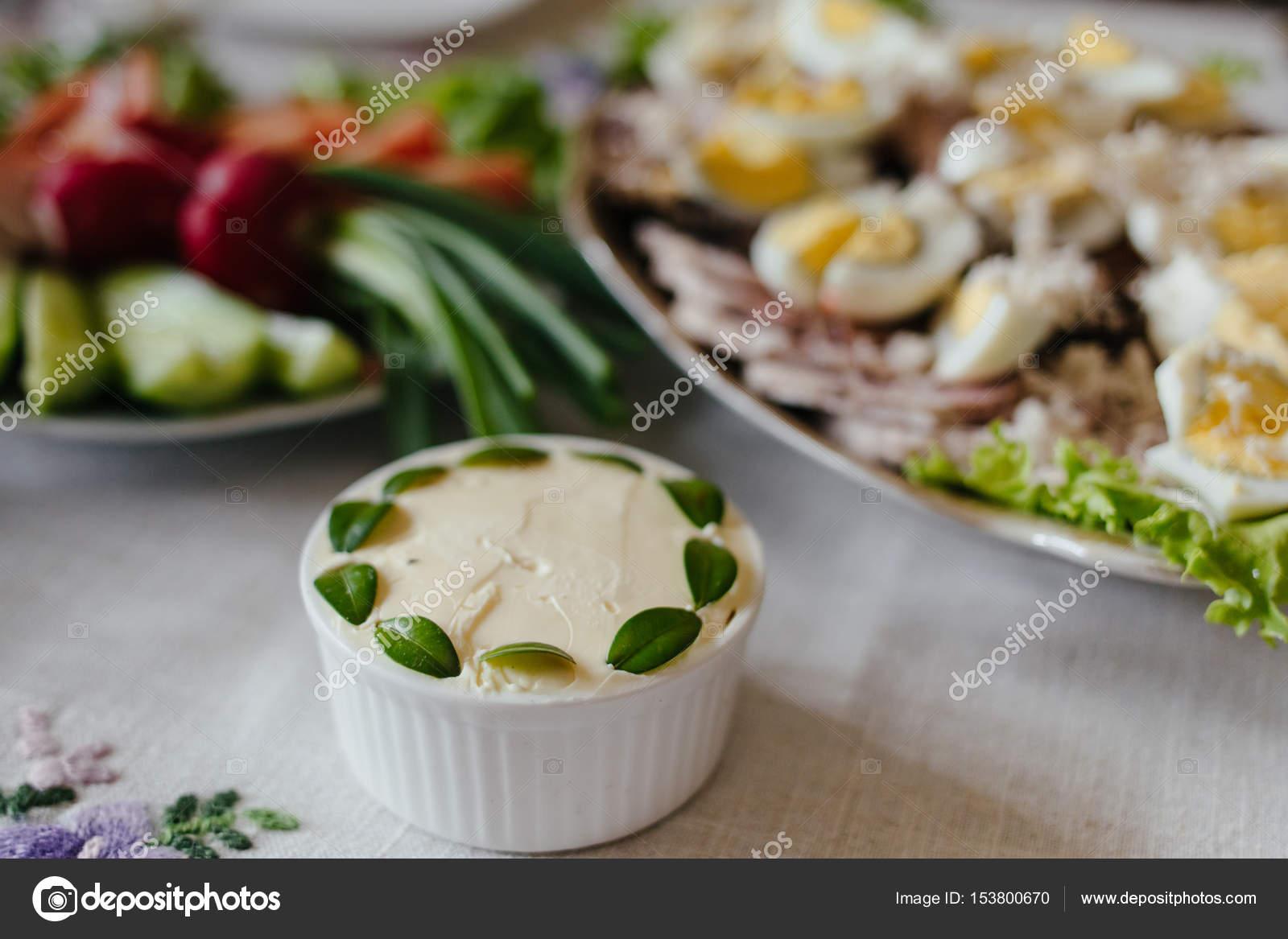 Fruhstuck Oder Brunch Tischdekoration Stockfoto C Vaksmanv101