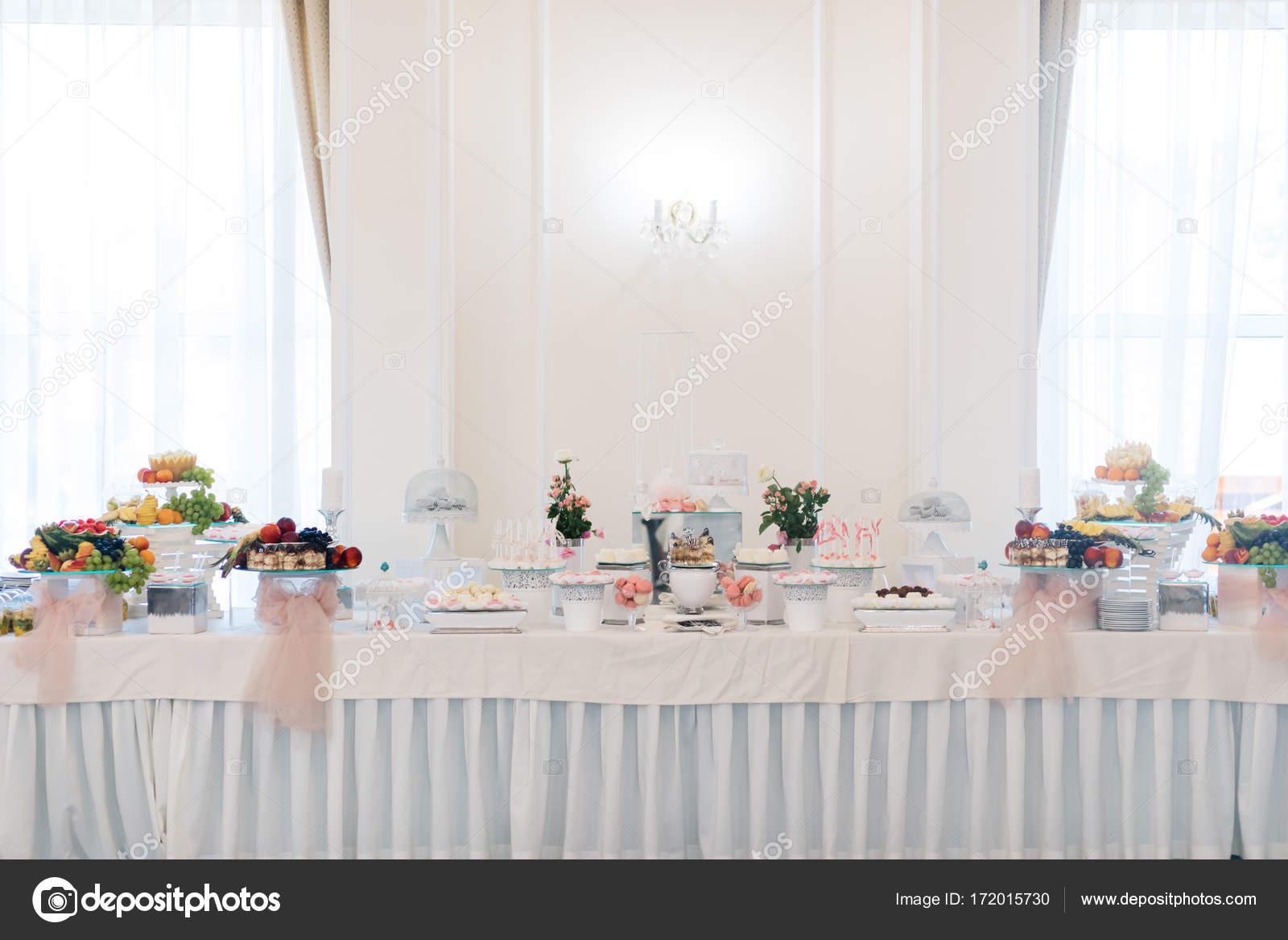 Delicious Wedding Reception Candy Bar Stock Photo Vaksmanv101