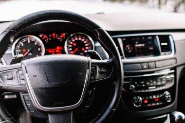 Interior of new modern  car.