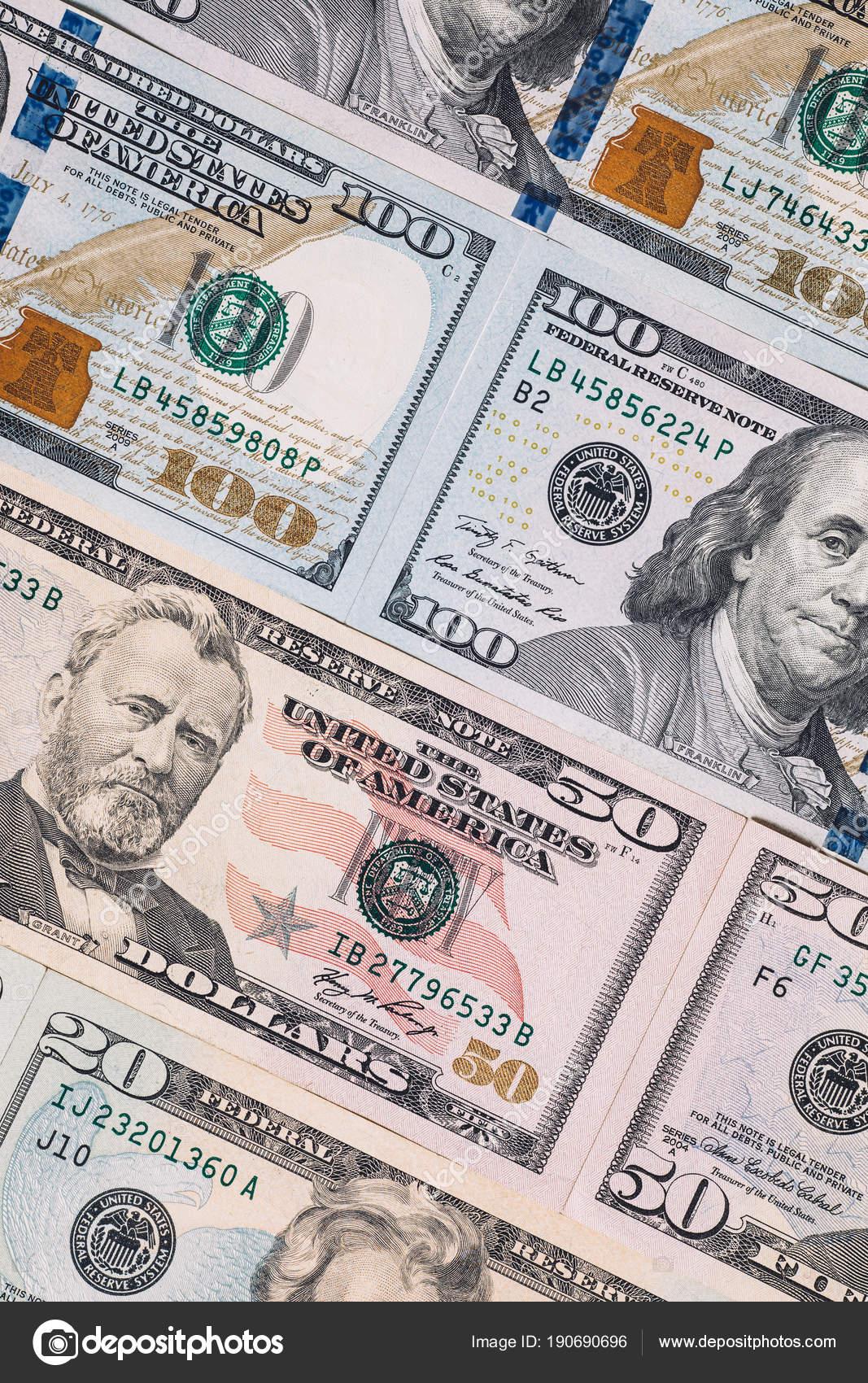 Different Bank Notes Dollars Money Bills — Stock Photo