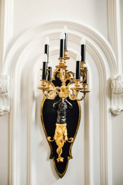 Luxurious Ornate Gold Wall Chandelier