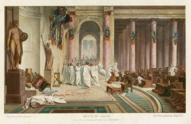 DEATH OF JULIUS CAESAR  Romans at the Theatre of Pompey