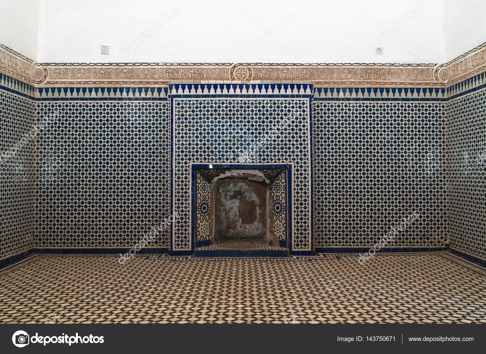 Fatto a mano mosaico marocchino in bahia palace marrakech marocco
