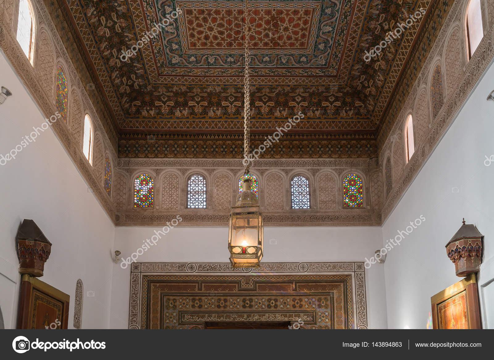 Decoratie in het bahia palace marokko u stockfoto praphab