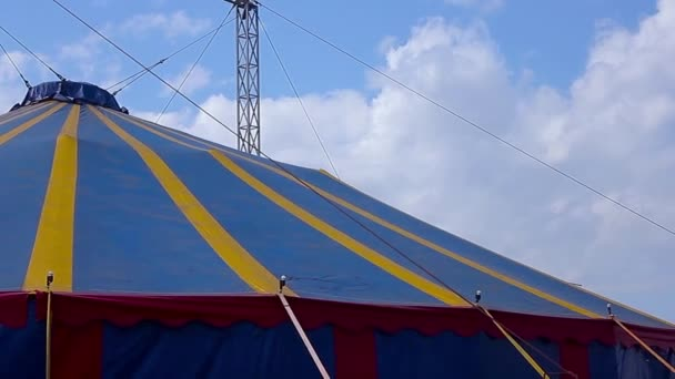 Colorful circus big top tent against a blue skyu2013 stock footage & Colorful circus big top tent against a blue sky u2014 Stock Video ...