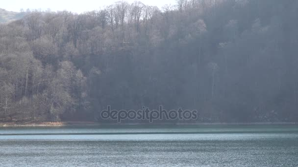 Lake Goygol  Azerbaijan  forest water and sky in landscape video
