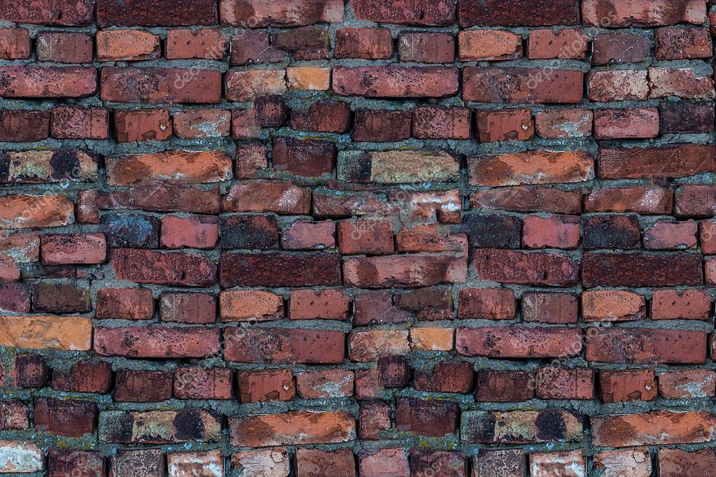 Old brick vintage wall urban background texture wall of stacked stones