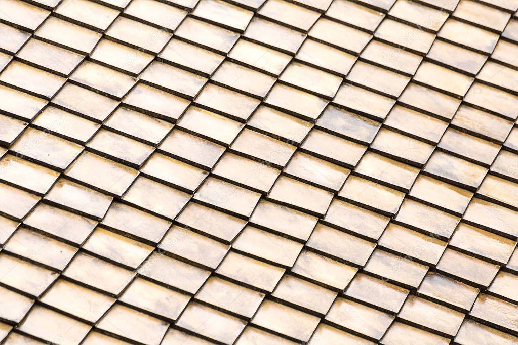 background pattern roof light tile light beige gray, set of wooden rectangles dice endless base