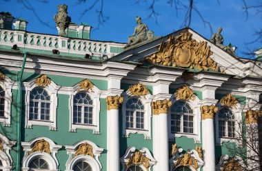 The facade of the Hermitage building