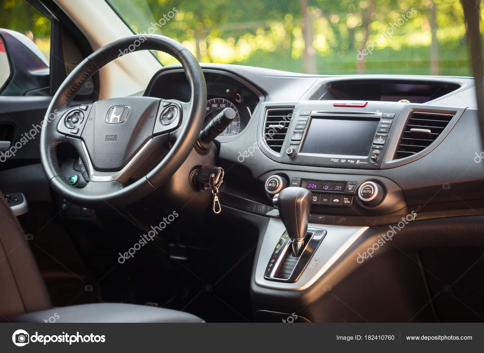 Novosibirsk Russia June 2017 Interior Honda Crv Photography Urban