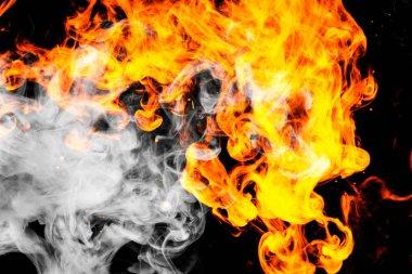 "Картина, постер, плакат, фотообои ""fire flames background. "", артикул 191227100"