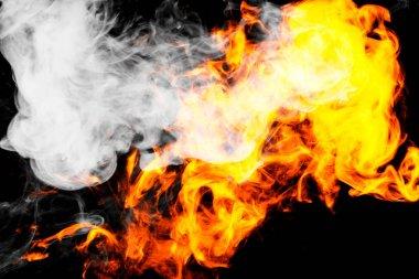 "Картина, постер, плакат, фотообои ""fire flames background. "", артикул 191227376"