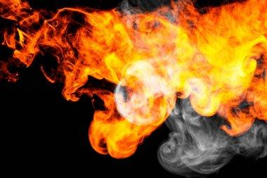 "Картина, постер, плакат, фотообои ""fire flames background."", артикул 191771544"