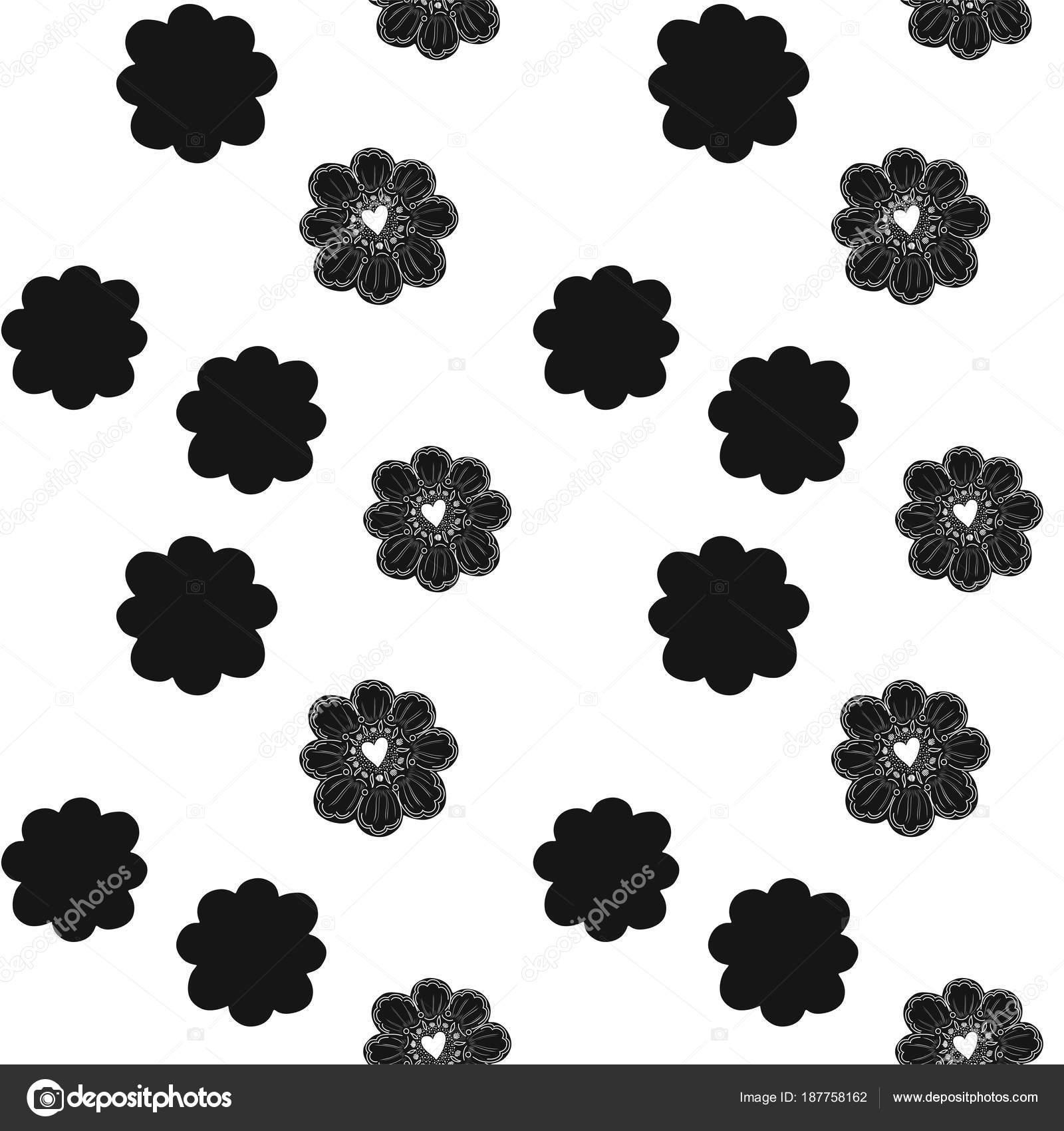 Nahtlose Muster. Einfache Blume Element. Doodle-Dekoration. Einfach ...