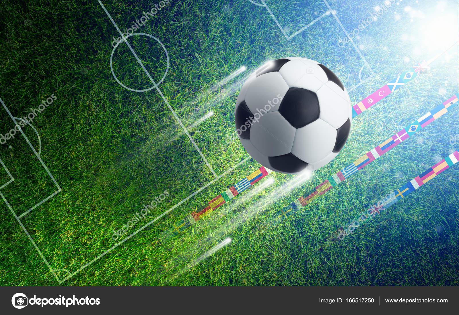 Balones De Fútbol Deportes Fondos De Pantalla Gratis: Balón De Fútbol En El Campo De