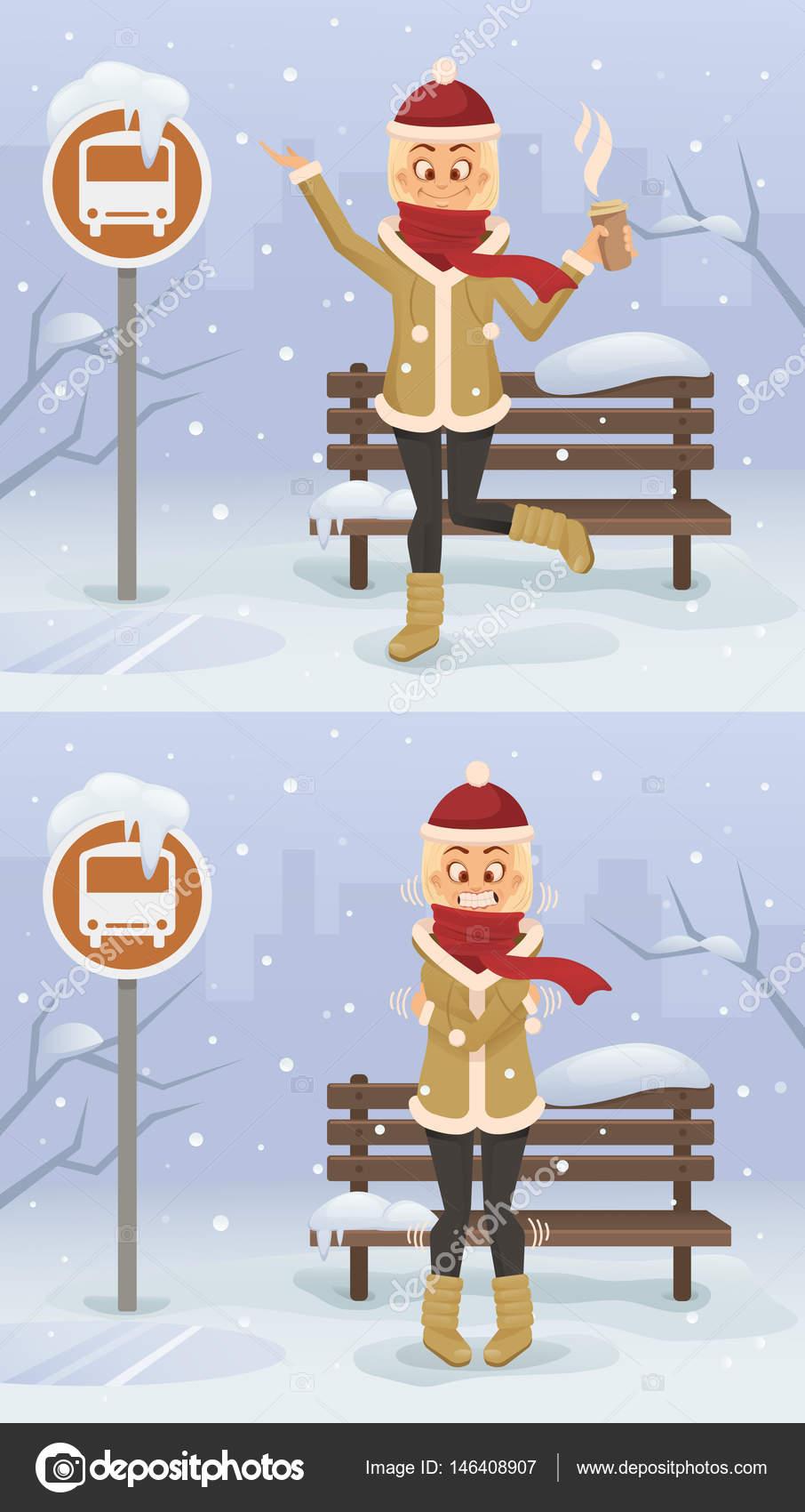winter season cartoon pictures