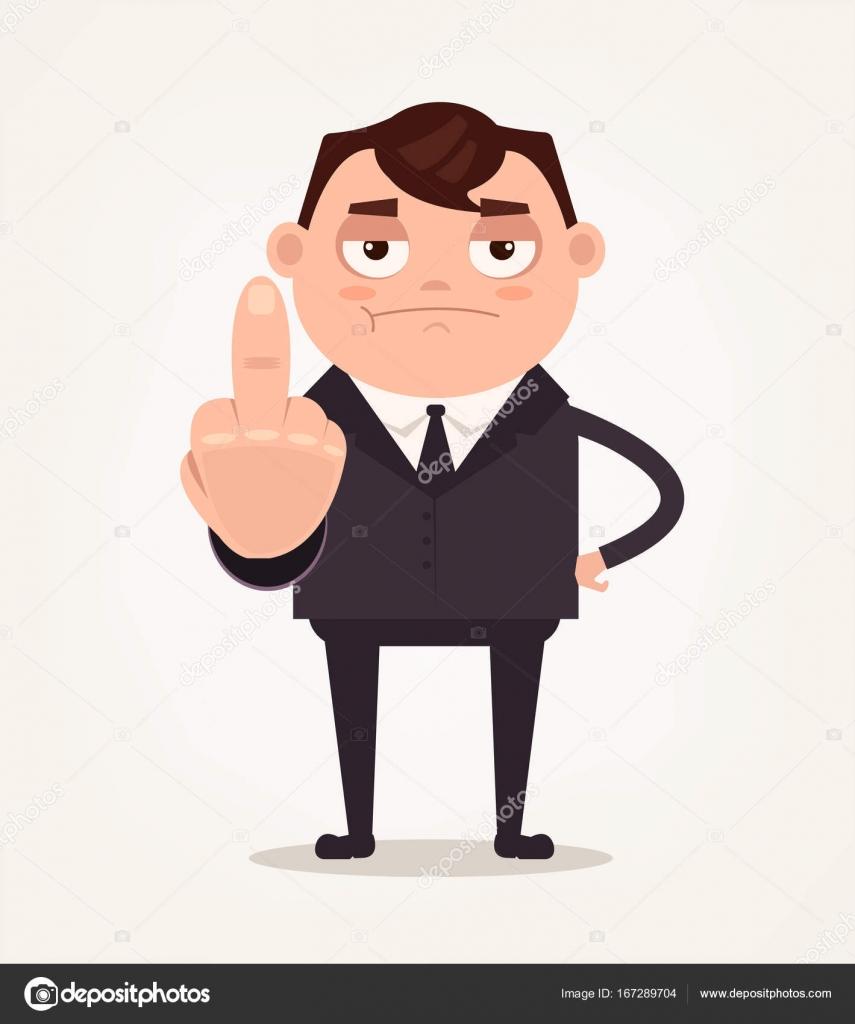 Infeliz Enojado Jefe Oficina Trabajador Empleado Hombre