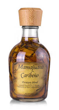 Isolated Mamajuana Bottle, The Dominican Republic Home Made Aphr