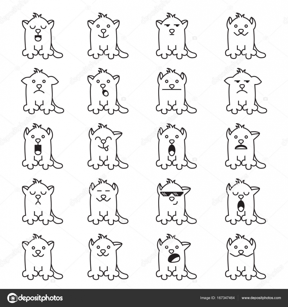 Cute cartoon cats different emotions sticker collection vector big collection cartoon cars face vector by g22 buycottarizona