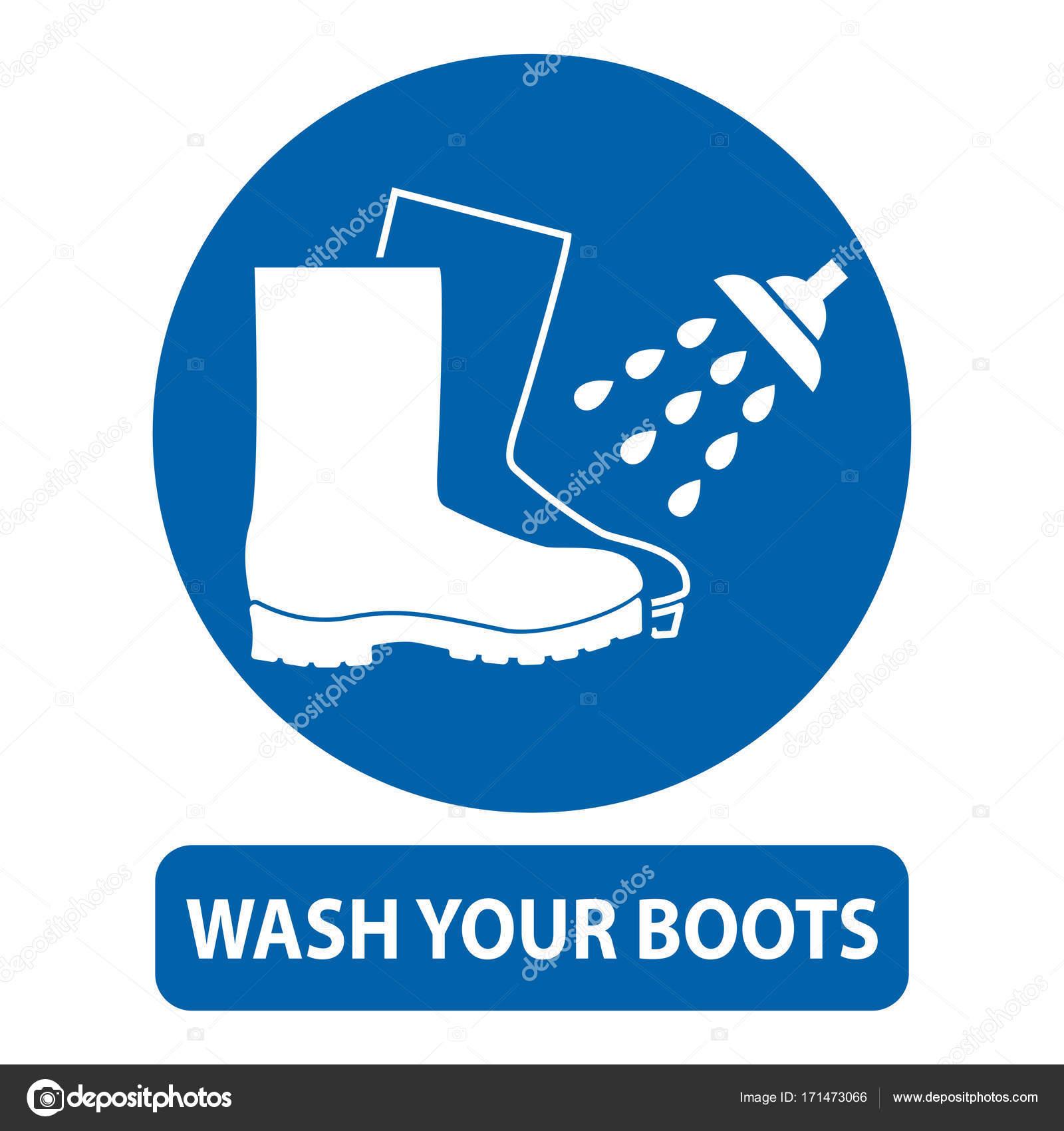 © Waschen Sie — Ihre Zeichen Stiefel G22171473066 Stockvektor eBCQErdxoW